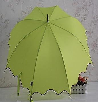 gjalong borde paraguas paraguas paraguas Cable de recto paraguas, Verde oscuro