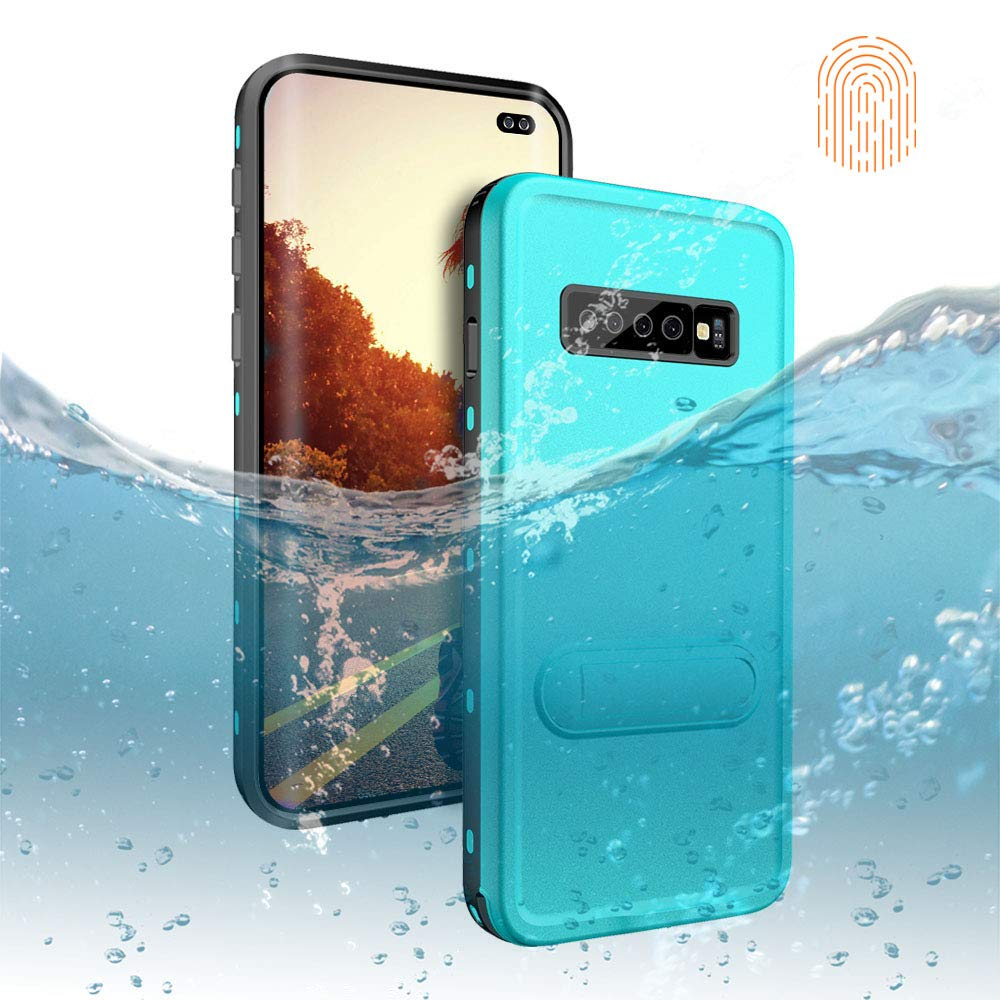 Galaxy S10 Plus Waterproof Case, DOOGE Shockproof Dirtproof Snowproof Rain Proof Heavy Duty Full Protection Rugged IP68 Certified Waterproof Case with Kickstand Screen Protector for Galaxy S10 Plus by DOOGE