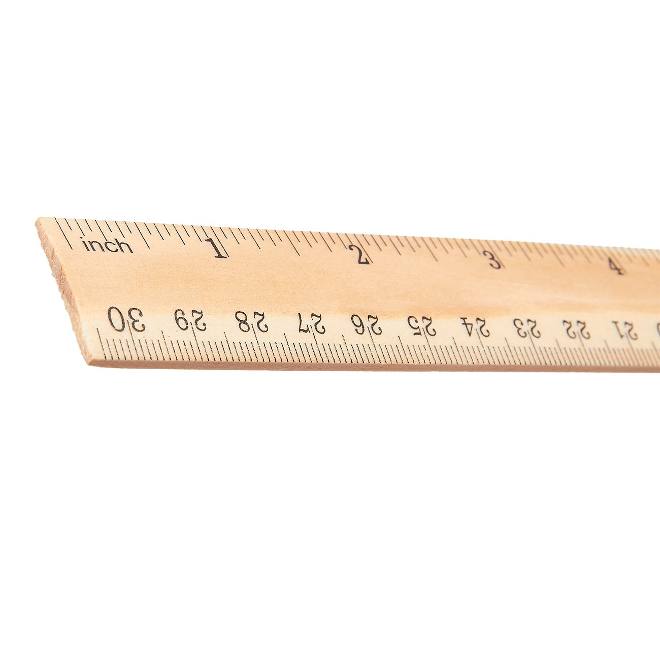 36 Pack 12 Inch Wooden Rulers Bulk Wood Ruler 2 Scales 12 Inch And 30 Cm
