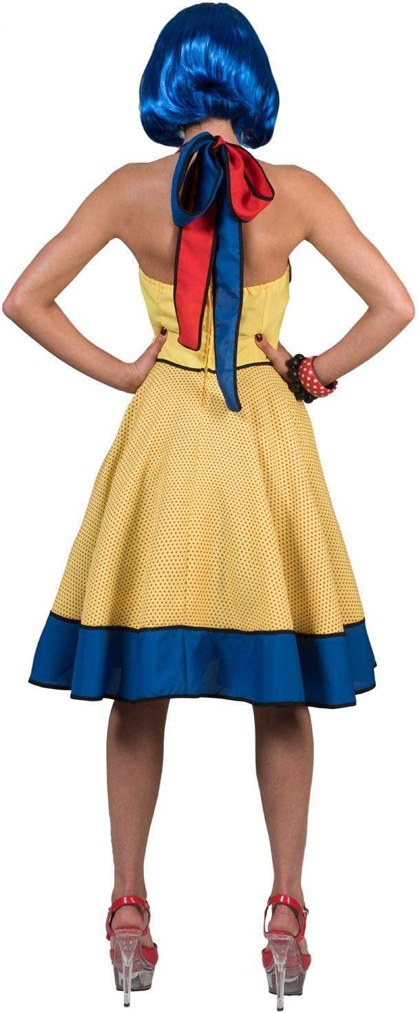 Disfraz de Pop Art Amarillo para Mujer L: Amazon.es: Juguetes y juegos