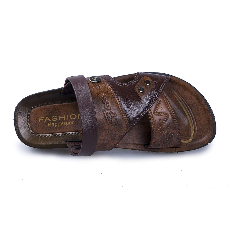 Ting room 2019 Summer Beach Shoes Men Flip Flops Men Beach Sandals Sandals Men Shoes Sandal Sport RY1602Brown,7
