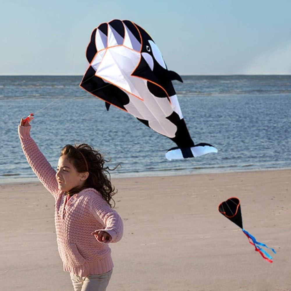 Riesige 3D Kite Frameless Weiche Parafoil Riesenwal Drachen Fliegen