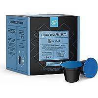 Marque Amazon - Happy  Belly  Dosettes de café (décaféiné) Lungo Decaffeinato compatibles avec NESCAFÉ* DOLCE GUSTO*, UTZ, 3x16 capsules (48 portions)