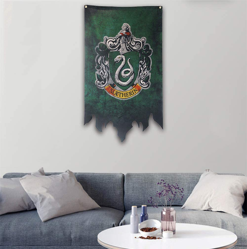 Gryffondor Serpentard Maison Decor Flag ravenclaw birthday decor for harry flag potter mur Banni/ère 46X120CM Poufsouffle