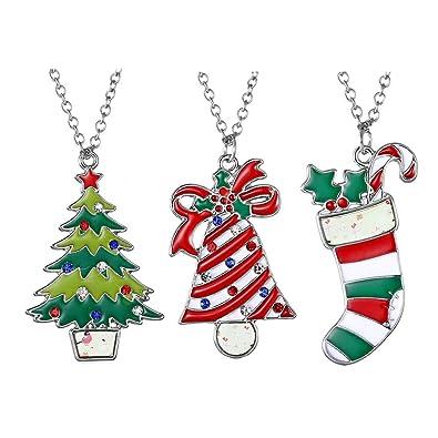 Image Unavailable - Amazon.com: MASSJOY 3 Pcs Christmas Ornaments Christmas Necklace