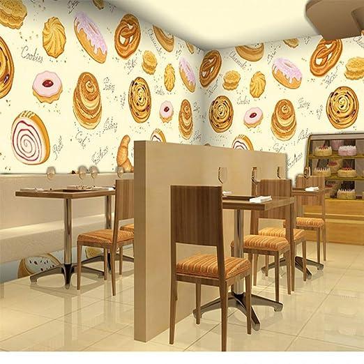 Amazhen Papel Pintado 3D Personalidad panadería Fondo de Pantalla ...