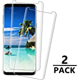 Galaxy S9 Screen Protector, 3D Screen Coverage Glass [Easy to Install][9H Hardness][HD][Case Friendly][Anti-Fingerprint] Tempered Glass Screen Protector Compatible with Samsung Galaxy S9 [2 Pack]