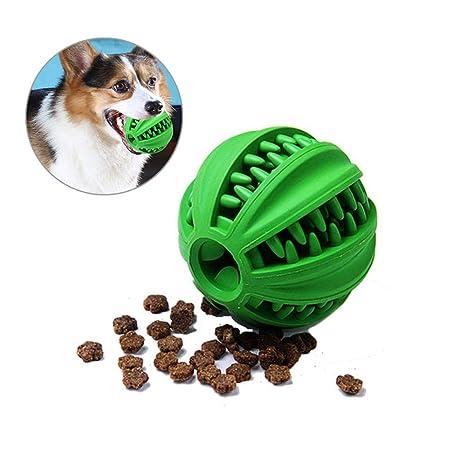 AOLVO Juguete para Perros, Pelota de Goma Masticar Juguete y Comedero de Comida para Perro