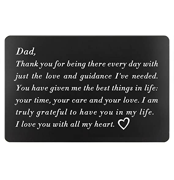 Christmas Ideas For Dad.Birthday Gifts For Dad From Daughter Fathers Day Gifts Ideas Dads Christmas Present Engraved Wallet Insert For Father