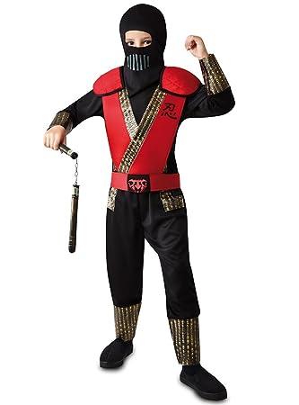 VIVING - Disfraz ninja rojo 7-9 años: Amazon.es: Juguetes y ...