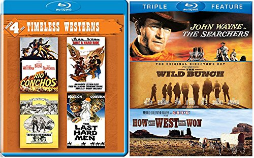 John Wayne Timeless Westerns Blu Ray + The Searchers / The Wild Bunch / How the West was Won & The Last Hard Men / Rio Conchos Butch & Sundance / Take a Hard Ride set western bundle