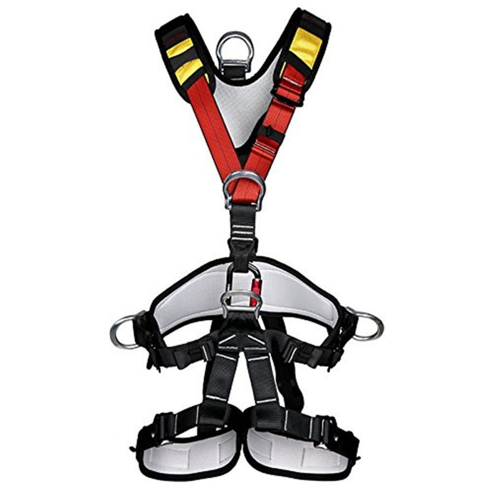 HaoFst Climbing Harness,Full Body Safety Harness Safe Seat Belt for Outdoor Tree Climbing Harness, Mountaineering Outward Band Expanding Training Caving Rock Climbing Rappelling Equip by HaoFst