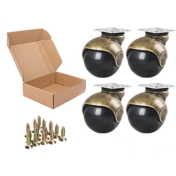Set Small Caster Wheels Ball For Sofa Furniture Wooden chair Rotary DIY