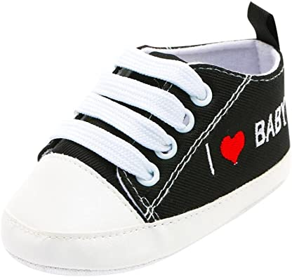 Voberry@ Baby Boys Girls Canvas Toddler Sneakers Soft Sole Anti-Slip Infant First Walker Shoes