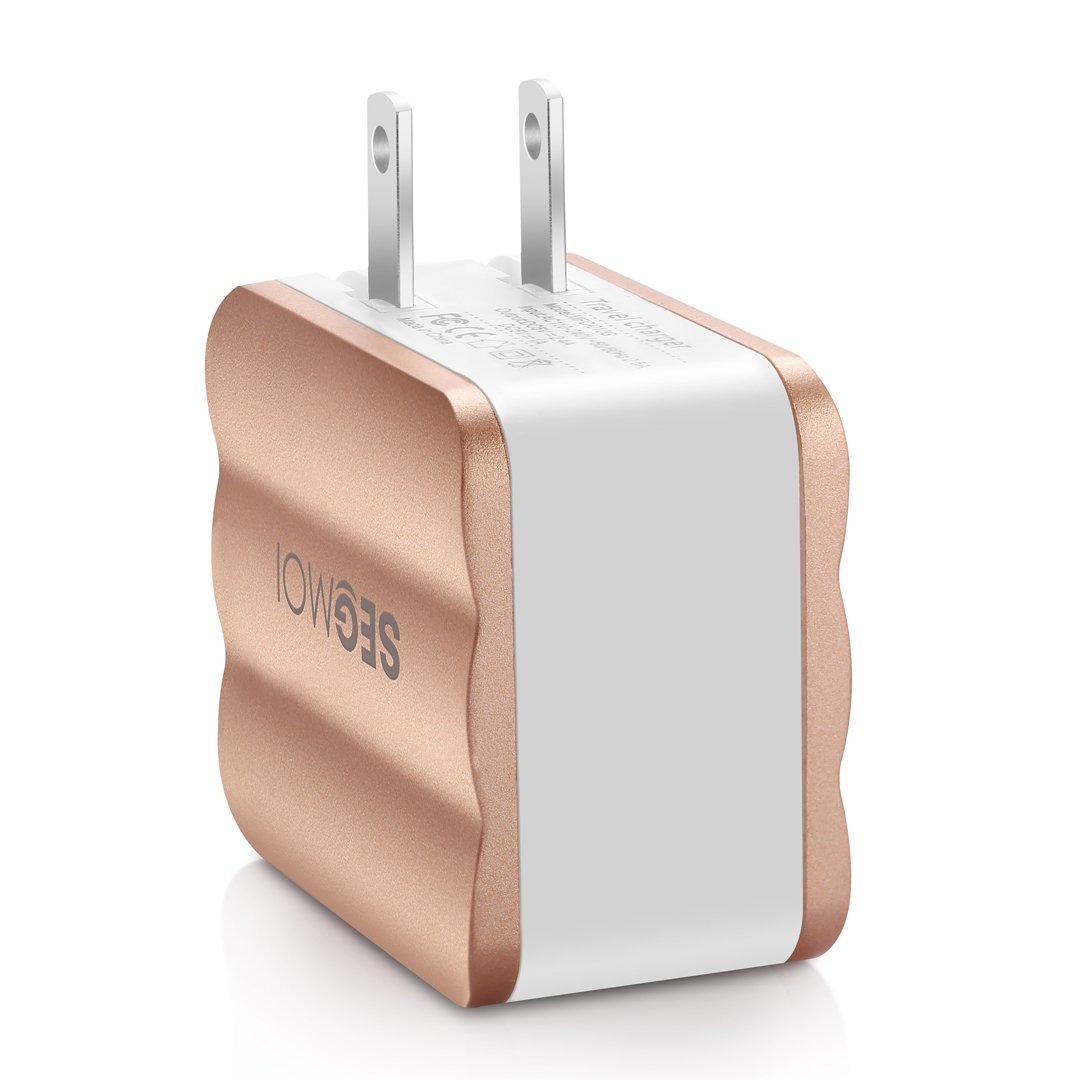 4in1 SEGMOI Fast Charge 3.4A Foldable Dual USB Wall Adapter S6 Edge//S5//S4 LG G4 G3 Nexus 6 5 Gold Kit 3Ft//1M Micro USB Braided Cable +3.4A Car Charger for Samsung Galaxy Note 5 4 3 2 S6 MFC-020-3GB