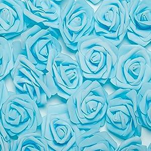 HEART SPEAKER 50/100Pcs Foam Fake Roses Artificial Flower Wedding Bride Bouquet Party Decor 97
