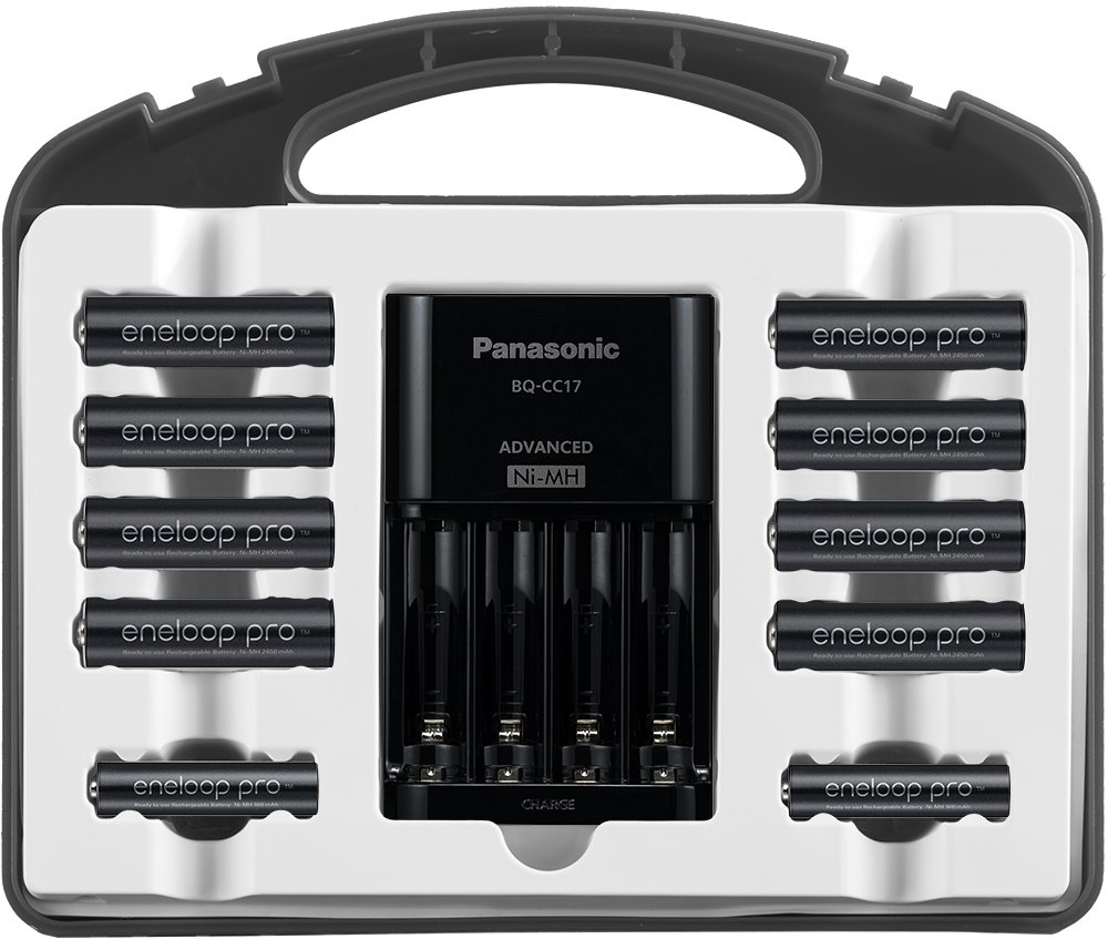 Panasonic K-KJ17KHC82A eneloop pro High Capacity Power Pack, 8AA, 2AAA, with