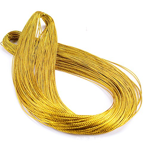 328 Feet Gift Tags String Hang Tags Rope (Gold) -