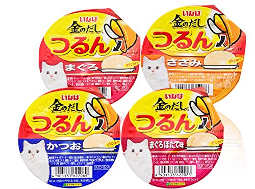 INABA Wet Cat Food Pudding Soft Texture 3 Mix Flavor Raise Pack (ุ65g.X4 Pack)