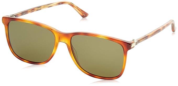 61b21cba4bf Amazon.com  Sunglasses Gucci GG 0017 S- 004 004 AVANA   GREEN ...
