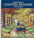 John Sloane's Country Seasons 2018 Monthly/Weekly Planner Calendar