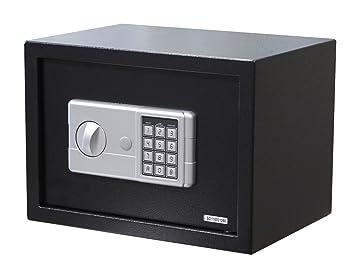 Black Small Digital Electronic Safe Box Keypad Lock Security Home Office Hotel