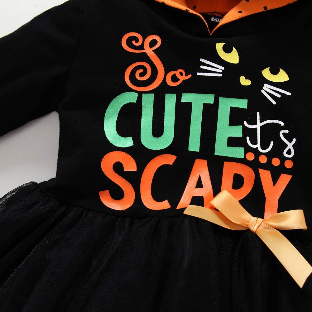 Legging Set Toddler Baby Girls Halloween Costume Outfit Kids Tutu Skirt Infant Long Sleeve Hoodie Top