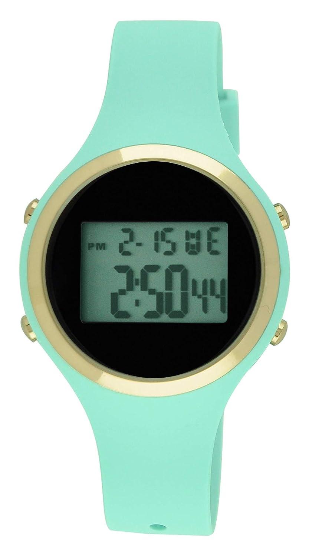 Moulin Ladies Pastel Color Digital Jelly Watch Mint 03158-76625
