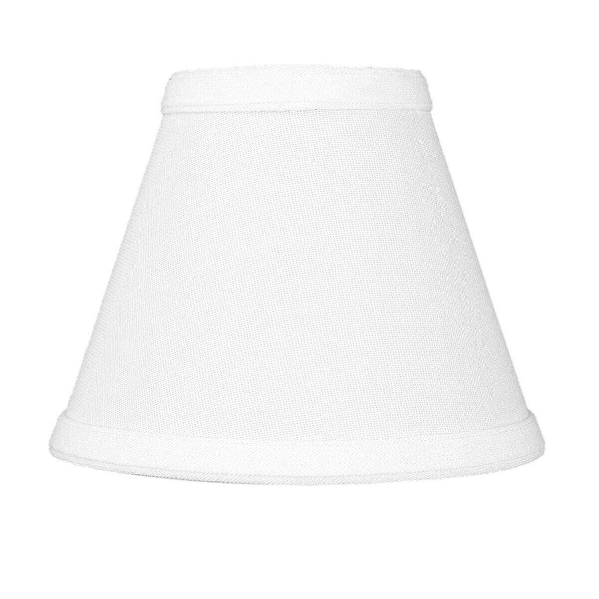 3x6x5 Chandelier White Linen Clip-On Lampshade By Home Concept - Perfect for chandeliers, foyer lights, and wall sconces -Small, White