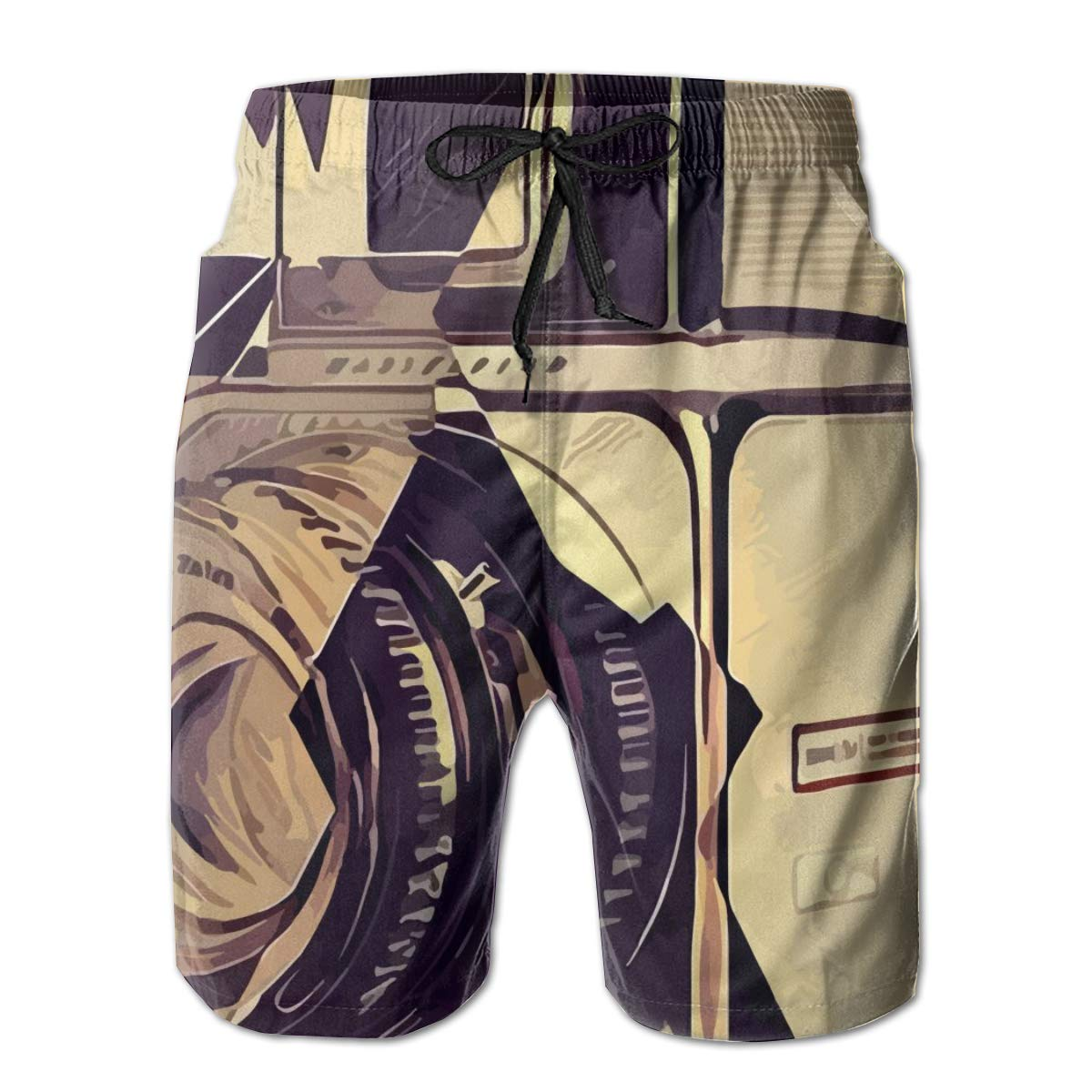 HZamora/_H Men SLR Camera Summer Breathable Quick-Drying Swim Trunks Beach Shorts Board Shorts