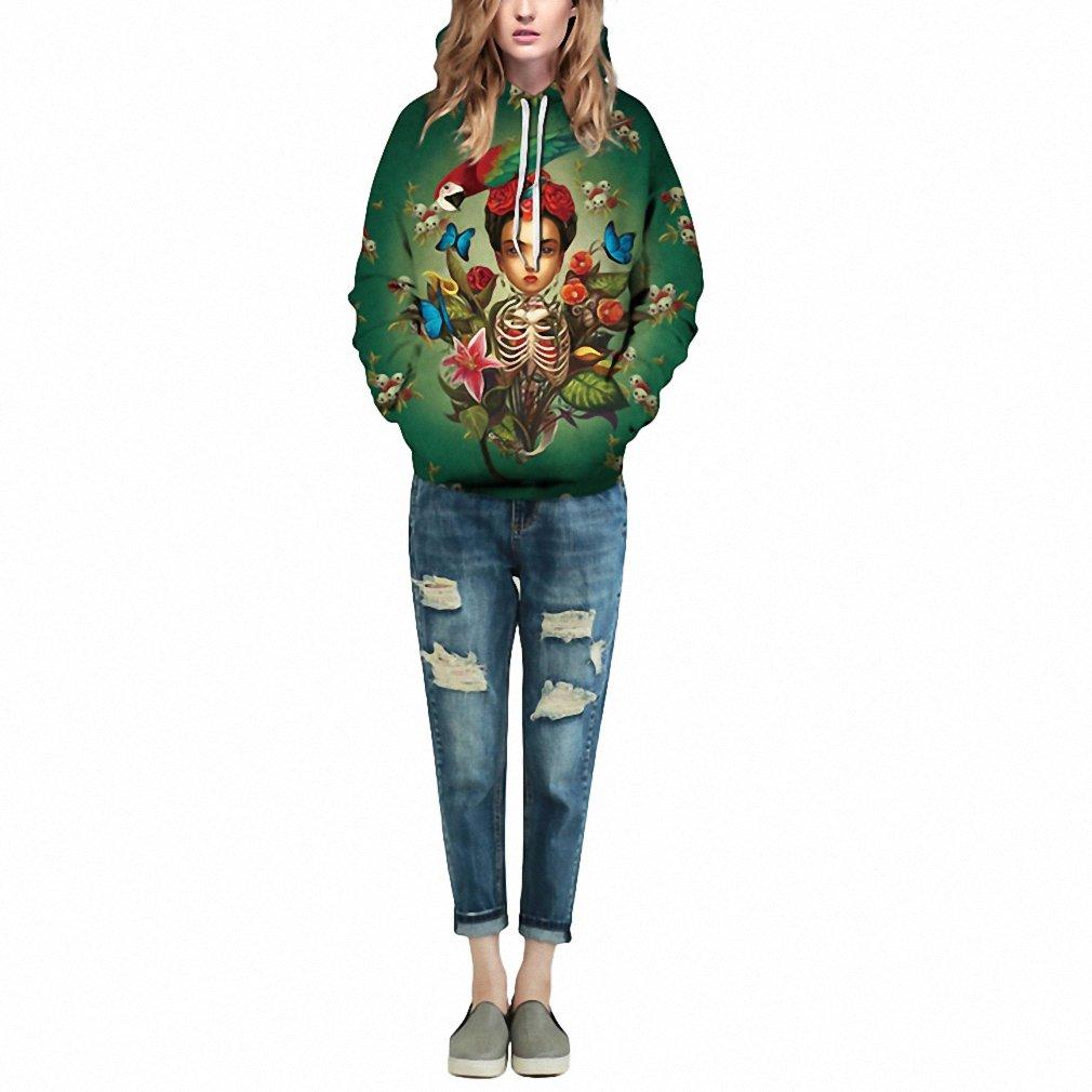 Amazon.com: 3D Hoodies Men Women Floral Skull Print Hoodie Pullover Casual Super Fun Hooded Sweatshirt Harajuku Hip Hop Style Streetwear 3XL As Picture M: ...