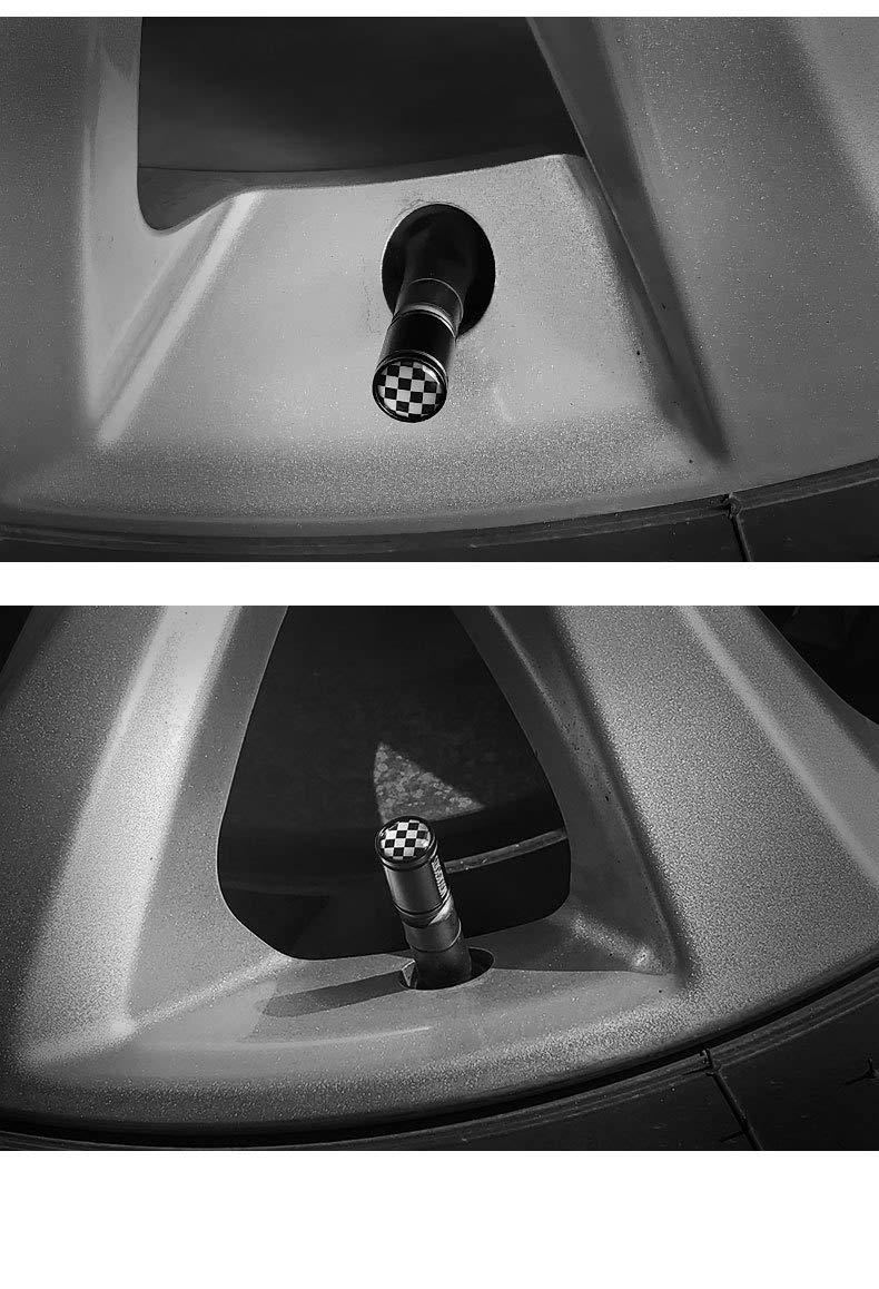 motocicletas |Sello de alta resistencia bicicletas VALVE CAP HOME 4Pcs Tapas de v/ástago de v/álvula de neum/ático de aluminio con junta Reemplazo de cubiertas de v/álvula universal for autom/óviles SUV