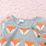 Cute Newborn Clothes Charberry Infant Baby Girl Boy Fox Print Warm Romper Jumpsuit