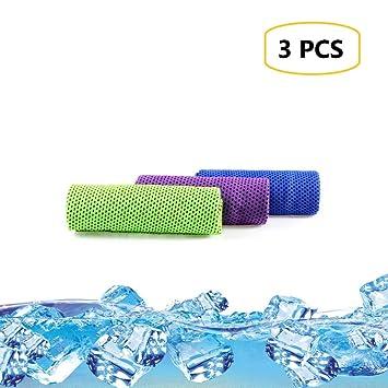 IVALLEY Toalla de refrigeración instantánea, 3 Unidades, Toalla de Microfibra de Secado rápido para Deportes, Yoga, Fitness, Viajes: Amazon.es: Deportes y ...