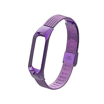 para Xiaomi Mi Band 3, Heligen Correa de Reloj de Repuesto de Acero ...