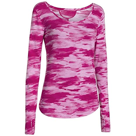 594ce2b0 Under Armour Cross Town Printed Long Sleeve Top - Women's Magenta Shock  Hand Painted Camo /