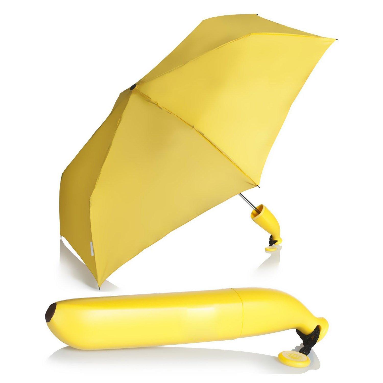 Paraguas - TOOGOO(R)Paraguas del platano Paraguas plegable Amarillo: Amazon.es: Hogar