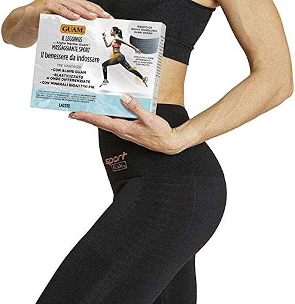 Guam Sport Massage Anti-Cellulite Leggings with Infrared Heat, Seaweed Micro-Capsules, NASA Fabric by GuamBeauty