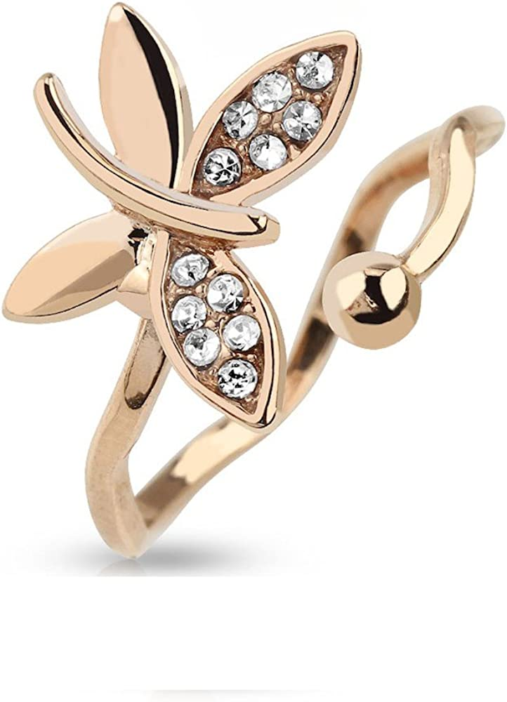 Fashion Gothic Bangle Snake Crystal Hand Palm Bracelet Punk Cuff Ring Jewelry