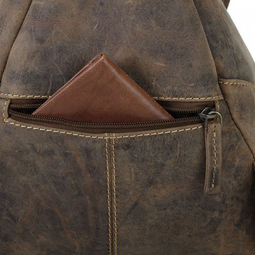 Greenburry Vintage Rucksack Leder 28 cm sattelbraun sattelbraun