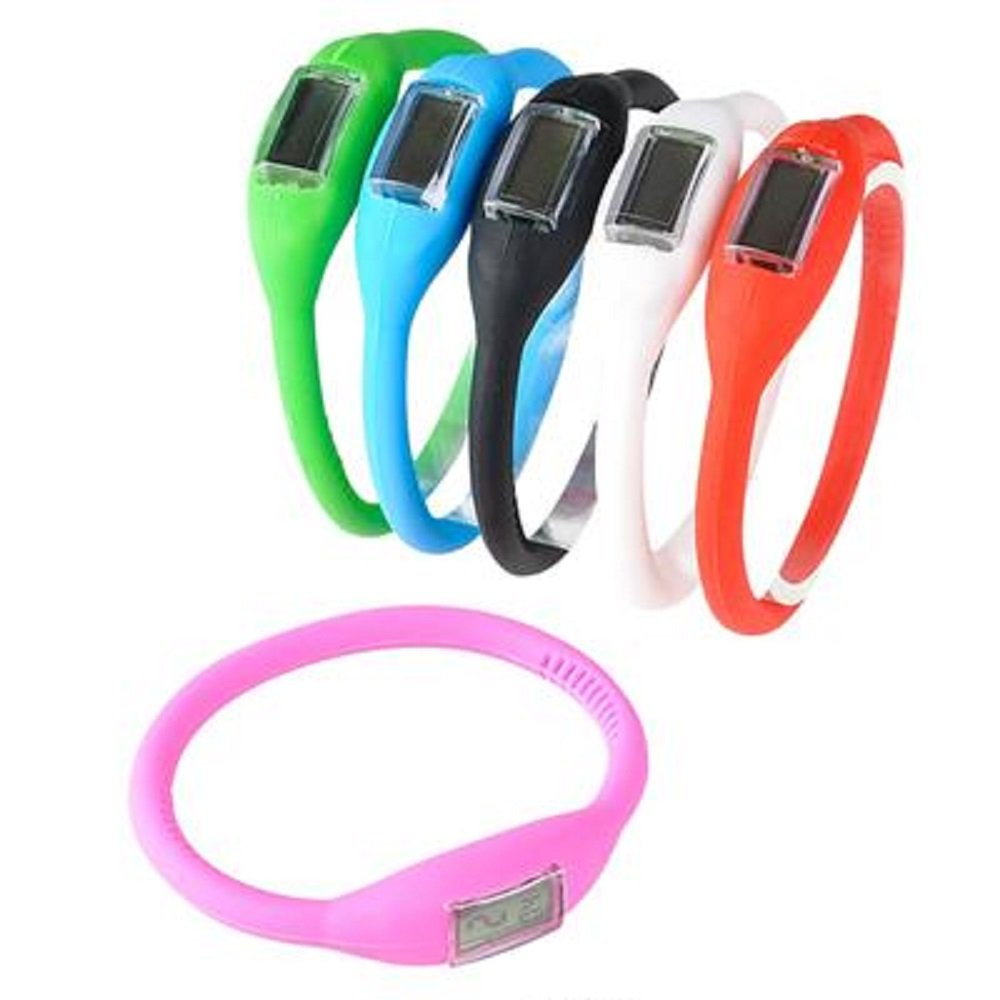 Digital Silicone Band Watch, Assorted Colors. 24 Pieces.