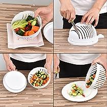 IUQY Salatschüssel Salat Schneiden Schüssel-Gemüse Schneiden Schüssel,Salat Maker 1 Minute