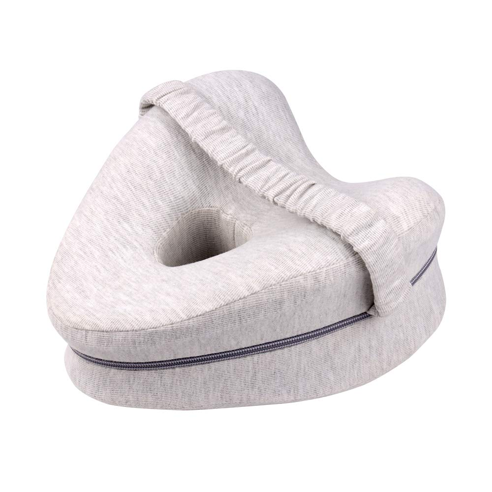 Actume Heart-Shaped Knee Leg Pillow, Memory Foam Knee Pillow with Strap, Ergonomic Side Sleeping Pillows for Soothing Pain Relief for Sciatica, Back, Hips, Knees, Joints & Pregnancy (Gray)