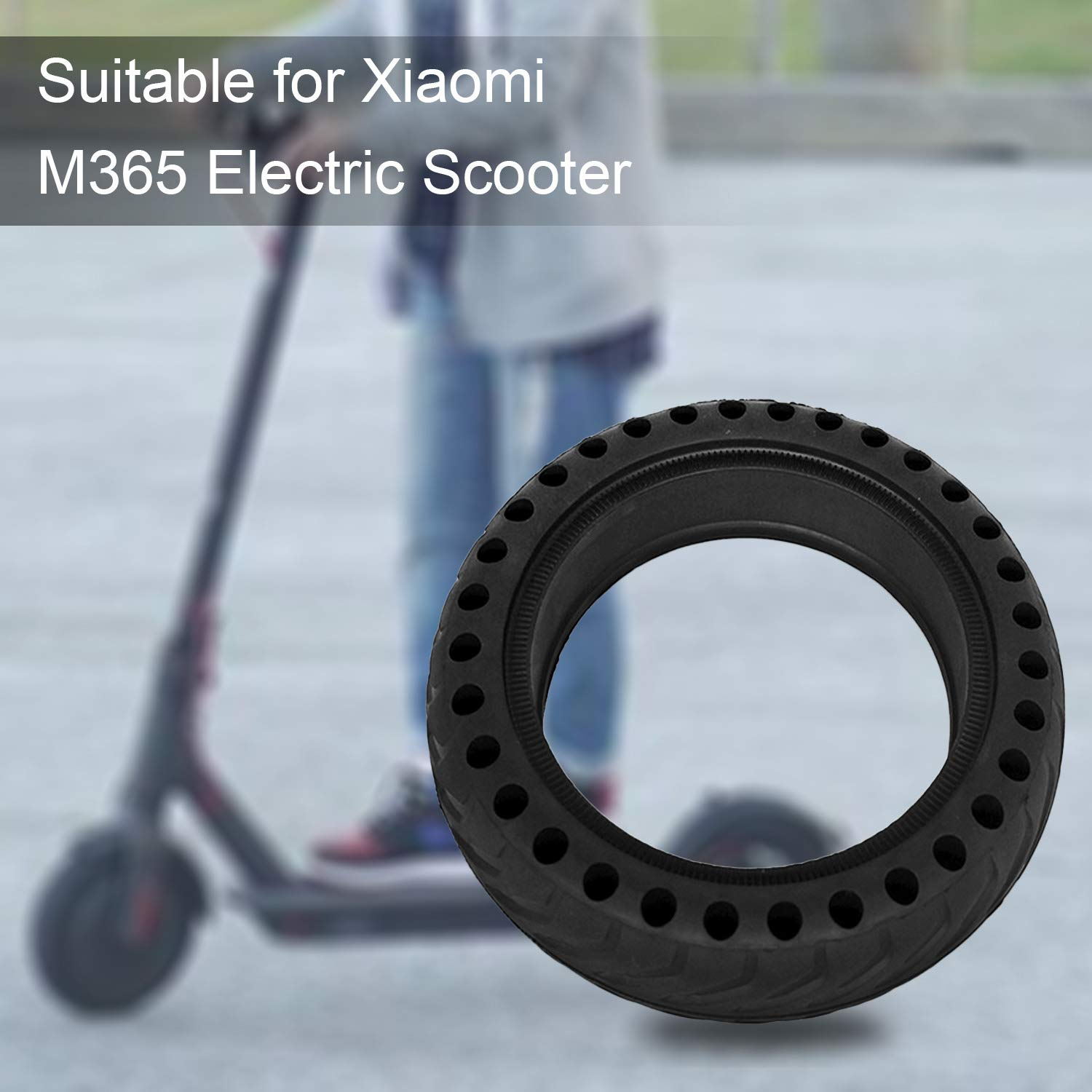 LuYang 2pcs 8 1//2 x 2 Honeycomb Hole Solid Tubes Replacement Tyre Tires Compatible with Xiaomi Xiao Mi Mijia M365 Electric Scooter