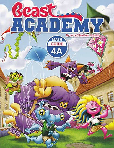 Art of Problem Solving Beast Academy 4A and 4B and 4C and 4D Guide and Practice 8-Book Set