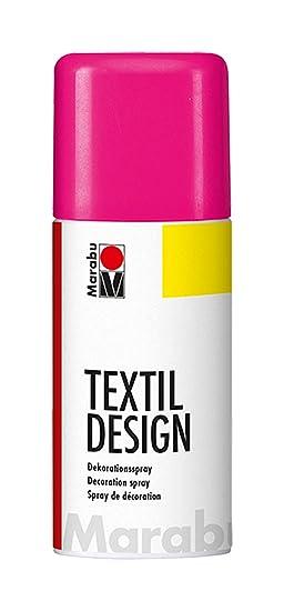 Marabu 150 Ml Tissu Textile Spray Peinture Peut En Métal Rose Fluo