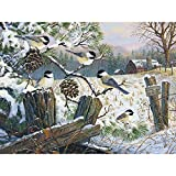 Bits and Pieces - 300 Piece Jigsaw Puzzle for Adults - Safe Haven - 300 pc Birds in the Winter Jigsaw by Artist Terry Doughty