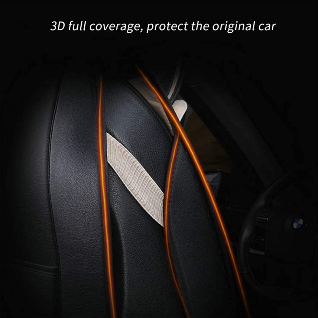 Car Seat Covers for Toyota RAV4 Front Car Seat Cover Leatherette Car Seat Protector Airbag Compatible 2Pcs Black