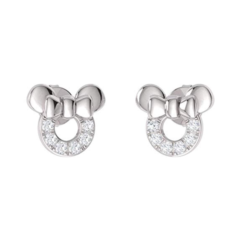 Silverraj Jewels 14K Gold Plated Simulated Diamond Studded Designer Stud Earrings