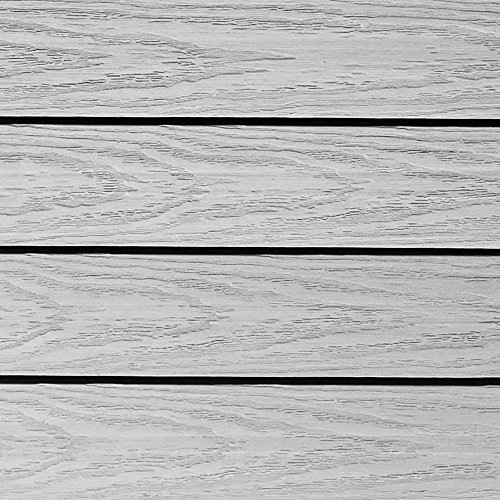 NewTechWood US-QD-ZX-SW Ultrashield Naturale Outdoor Composite Quick Deck Tile (10 Case), 1' x 1', Icelandic Smoke White